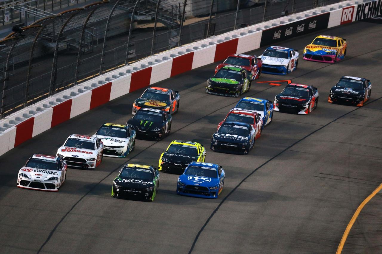 Ross Chastain, Harrison Burton and Austin Cindric in the NASCAR Xfinity Series at Richmond Raceway
