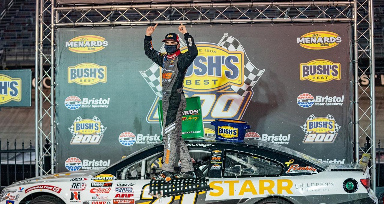 Sam Mayer wins at Bristol Motor Speedway - ARCA Menards Series