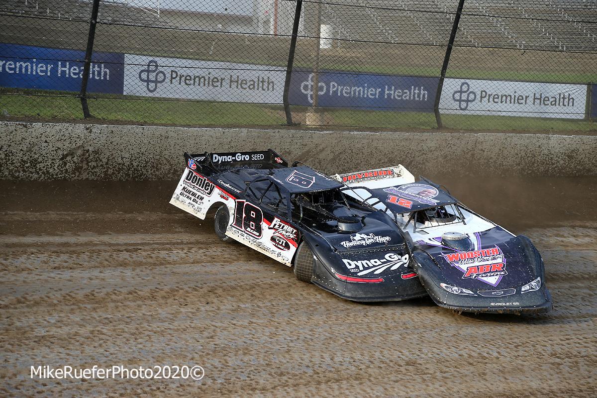 Shannon Babb crash at Eldora Speedway