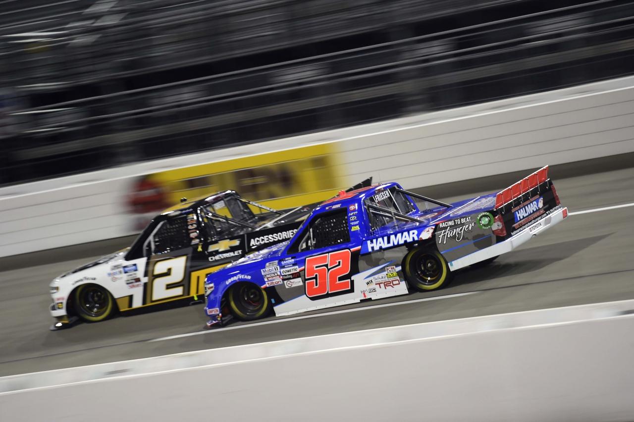 Stewart Friesen and Sheldon Creed at Richmond Raceway - NASCAR Truck Series