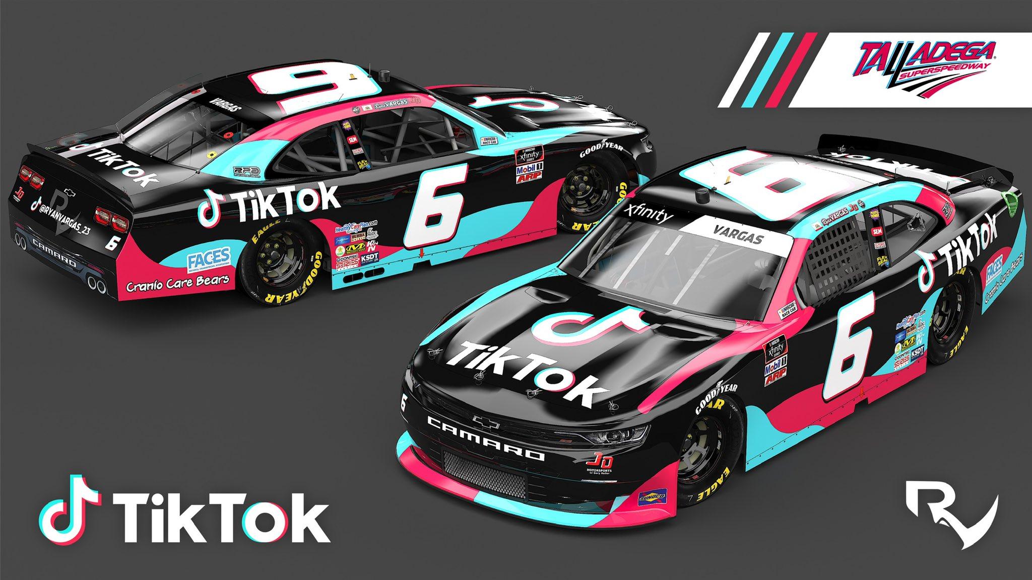 TikTok - NASCAR sponsorship