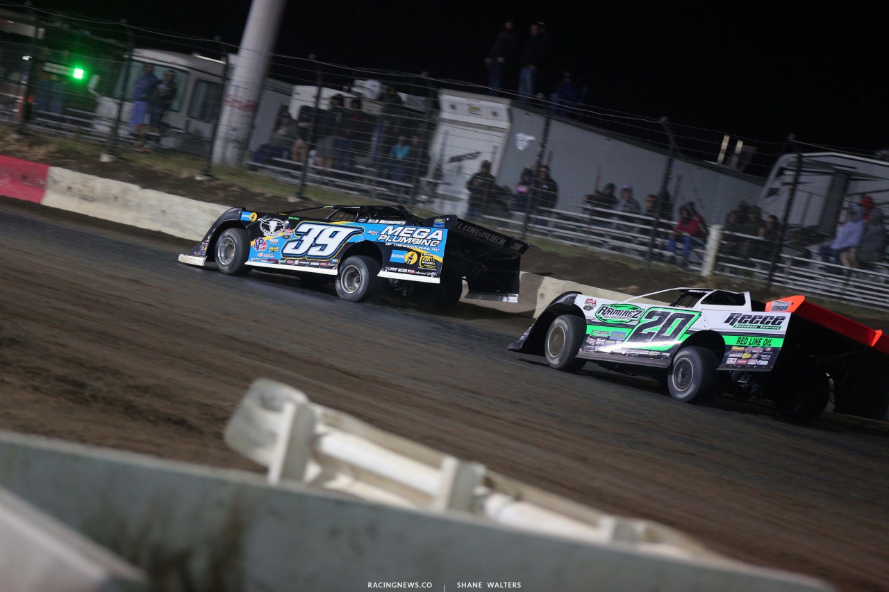 Tim McCreadie and Jimmy Owens at I-80 Speedway - Dirt Late Models - Lucas Dirt 4098