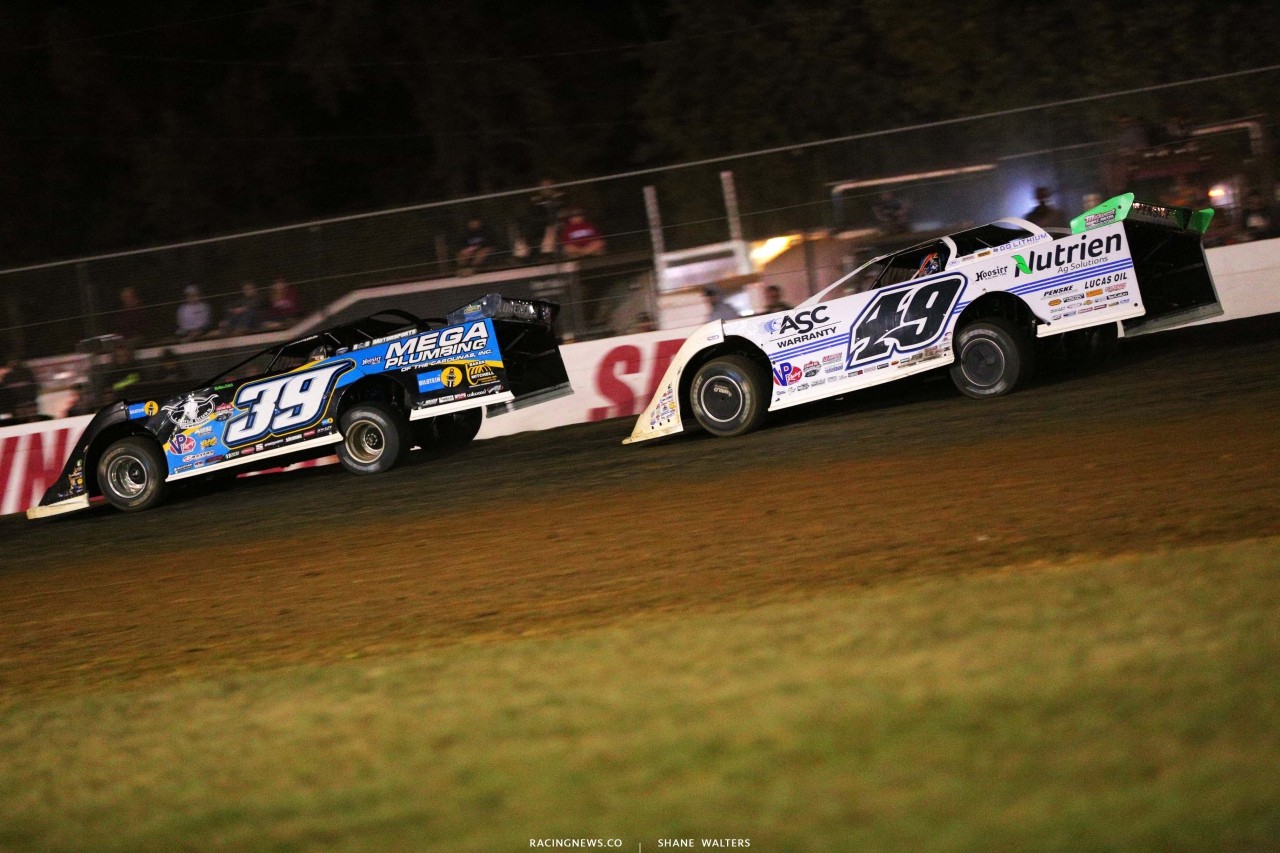 Tim McCreadie and Jonathan Davenport - Dirt Track Racing - Brownstown Speedway - Lucas Series 4563