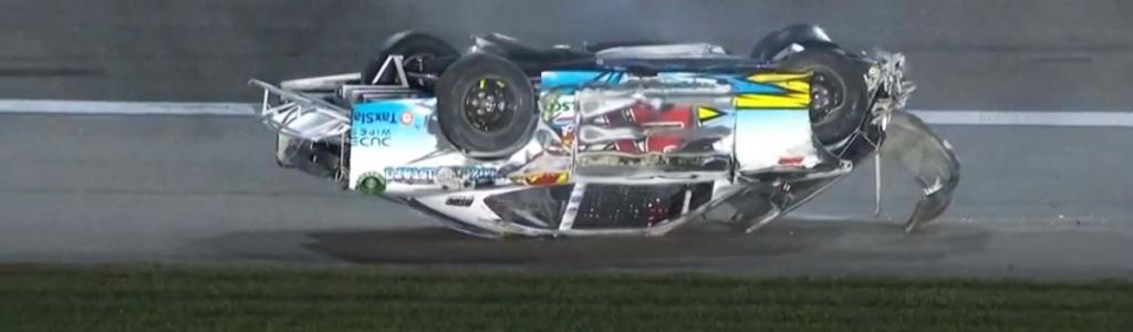 Wild NASCAR crash for Anthony Alfredo at Kansas Speedway (Video)