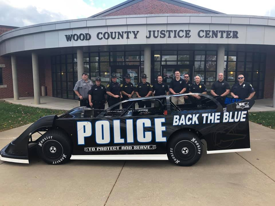 Back the Blue - Police Race Car - Wood County Justice Center - Parkersburg West Virginia