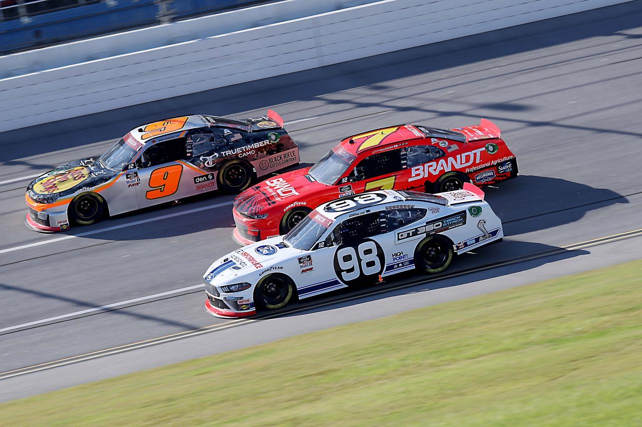 Chase Briscoe, Justin Allgaier and Noah Gragson at Talladega Superspeedway - NASCAR Xfinity Series