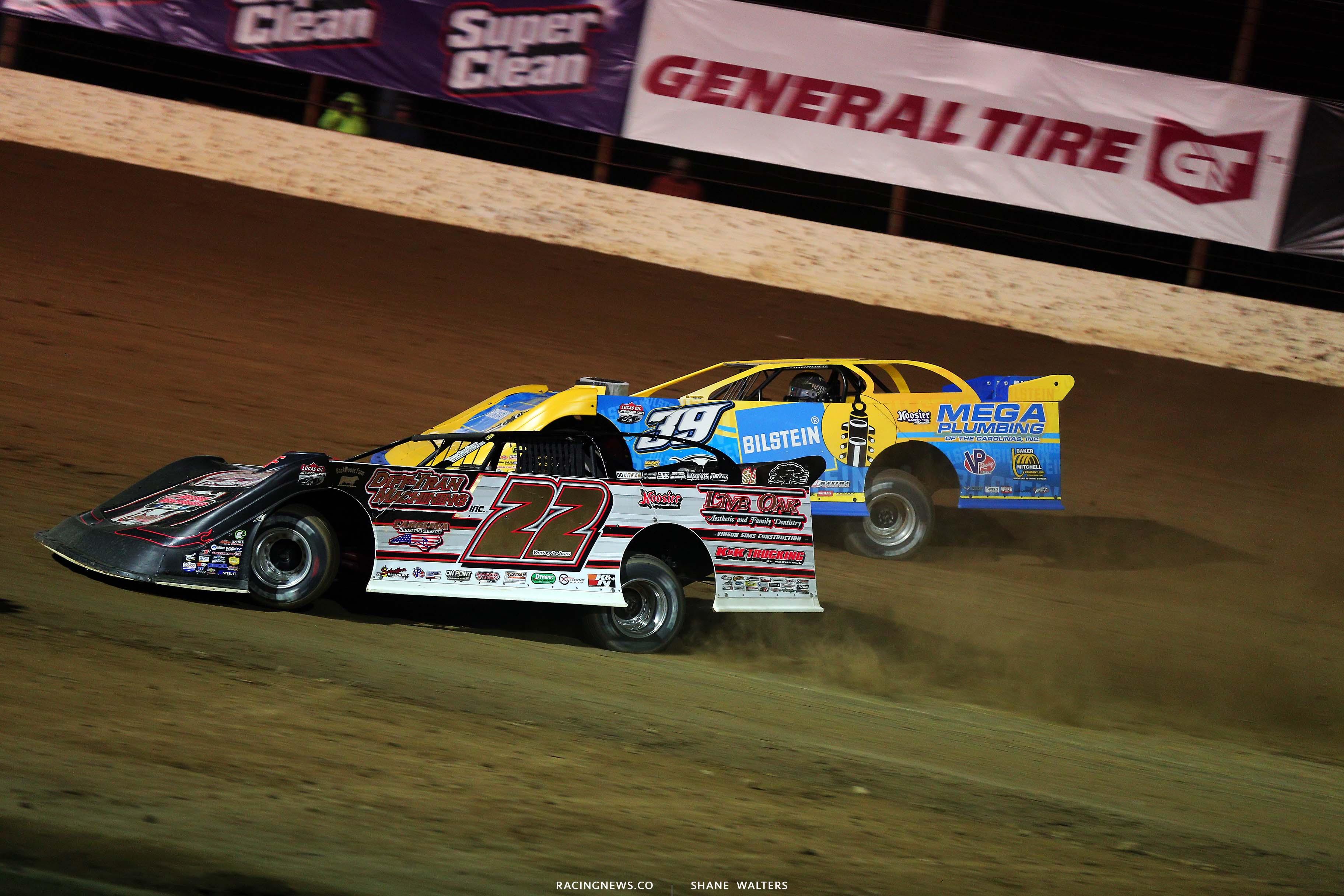 Chris Ferguson and Tim McCreadie at Portsmouth Raceway Park - Dirt Late Model Racing 5403