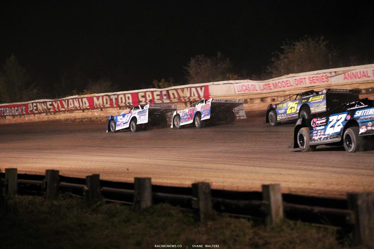 Devin Moran, Hudson O'Neal, Shane Clanton and Gregg Satterlee at Pittsburghs PA Motor Speedway - LOLMDS 4914