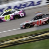 Jimmie Johnson and Cole Custer at Kansas Speedway - NASCAR Cup Series