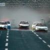 Justin Haley, Noah Gragson and Harrison Burton on the Charlotte Roval - NASCAR Xfinity Series - Rain Racing