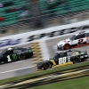 Kurt Busch, Alex Bowman and Brad Keselwoski at Kansas Speedway - NASCAR Cup Series
