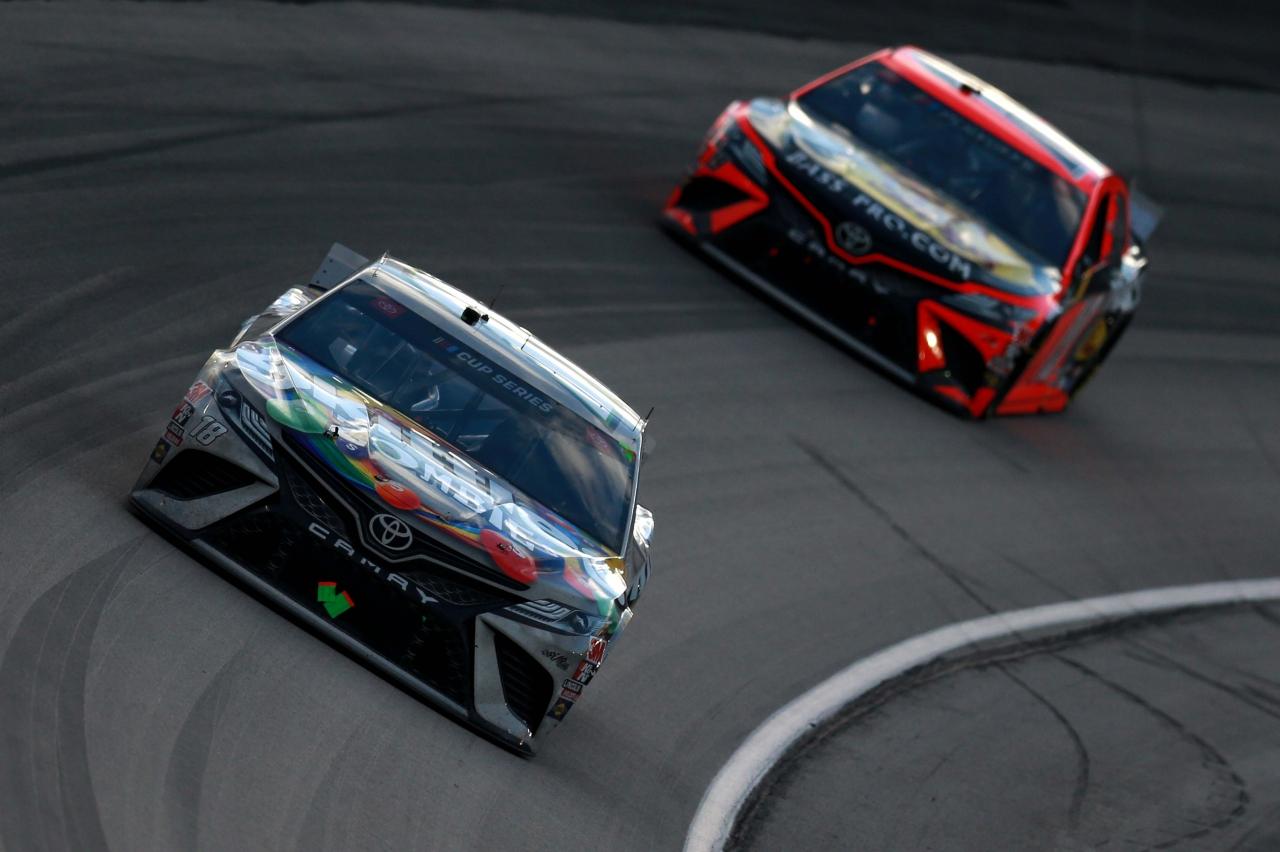 Kyle Busch and Martin Truex Jr at Texas Motor Speedway - NASCAR Cup Series