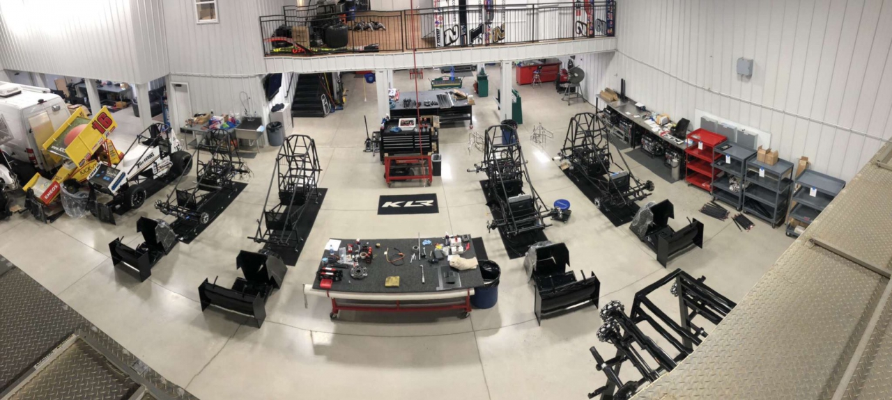 Kyle Larson Racing shop - Dirt Track Racing garage