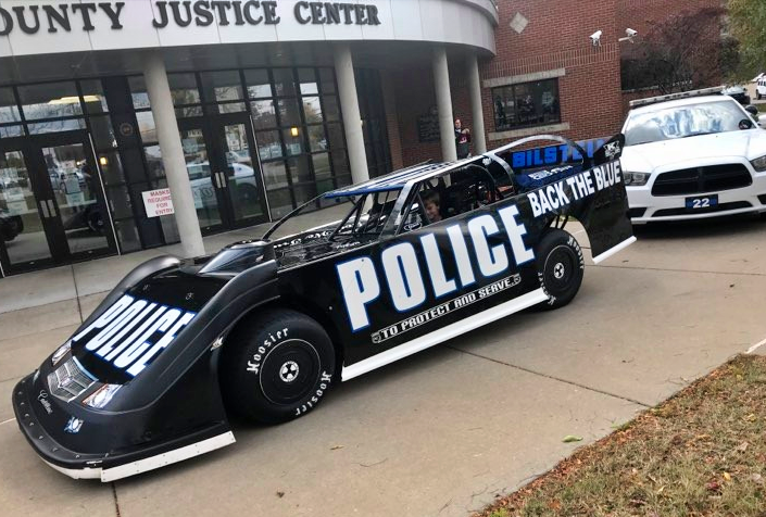 Police dirt late model - Back the Blue