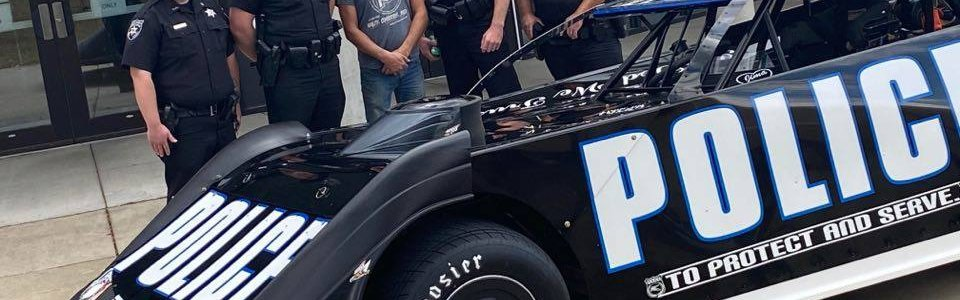 Police race car to debut at Dirt Track World Championship