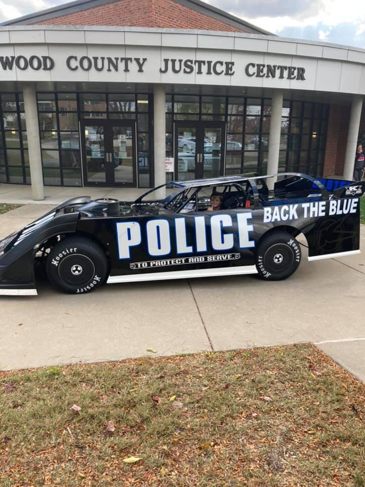 Police race car - dirt late model - Freddie Carpenter