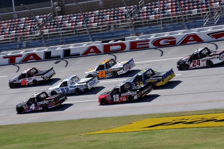 Raphael Lessard and Tanner Gray at Talladega Superspeedway - NASCAR Truck Series