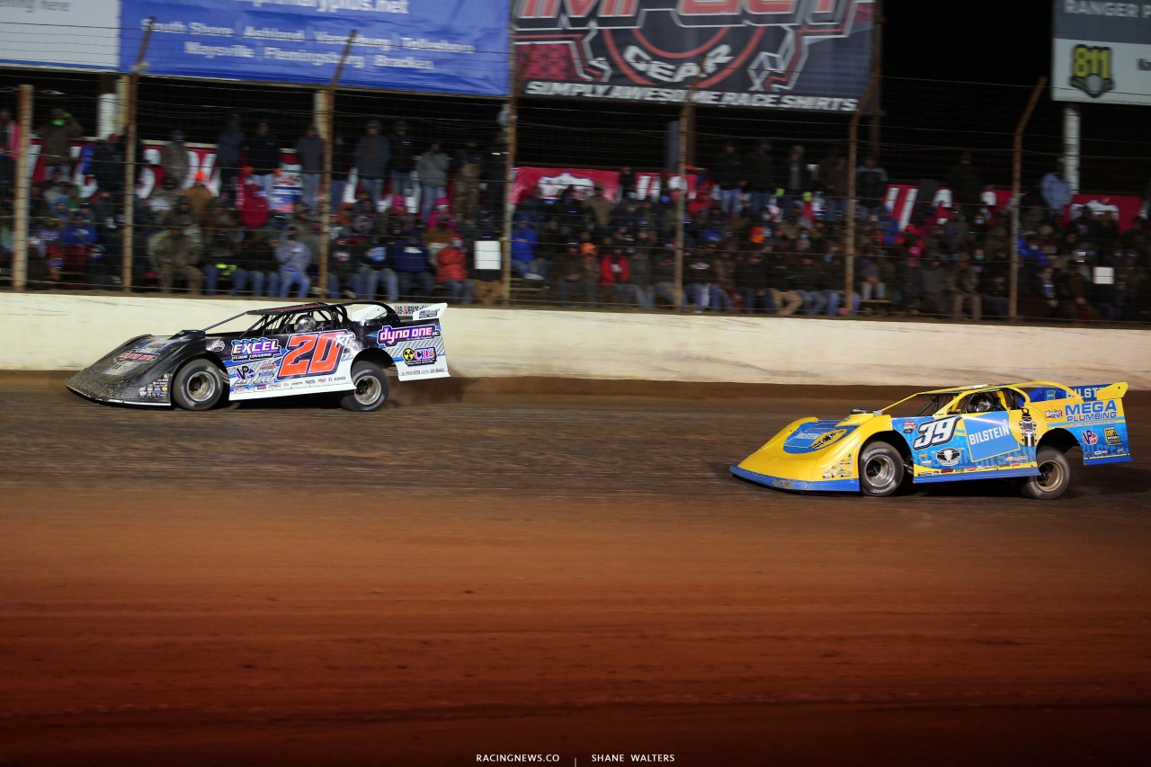 Ricky Thornton Jr and Tim McCreadie at Portsmouth Raceway Park - LOLMDS 5752