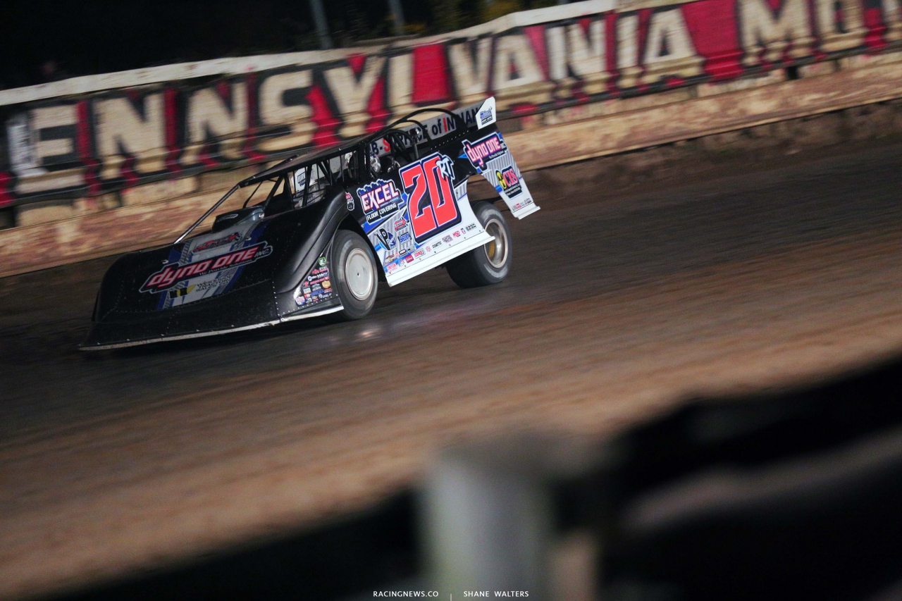 Ricky Thornton Jr at Pittsburghs Pennsylvania Motor Speedway - Dirt Track Racing 5084