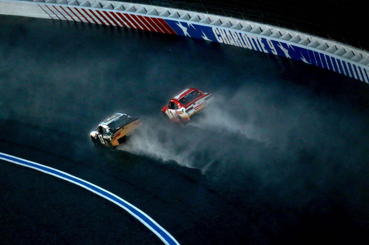 Stephen Leicht and Michael Annett - Rain Racing on the Charlotte ROVAL - NASCAR Xfinity Series