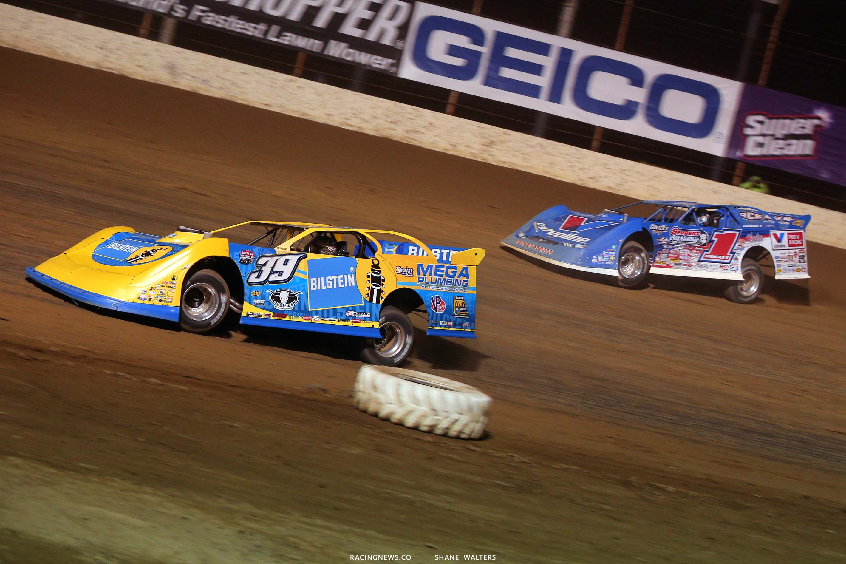 Tim McCreadie and Brandon Sheppard at Portsmouth Raceway Park - DTWC 5558