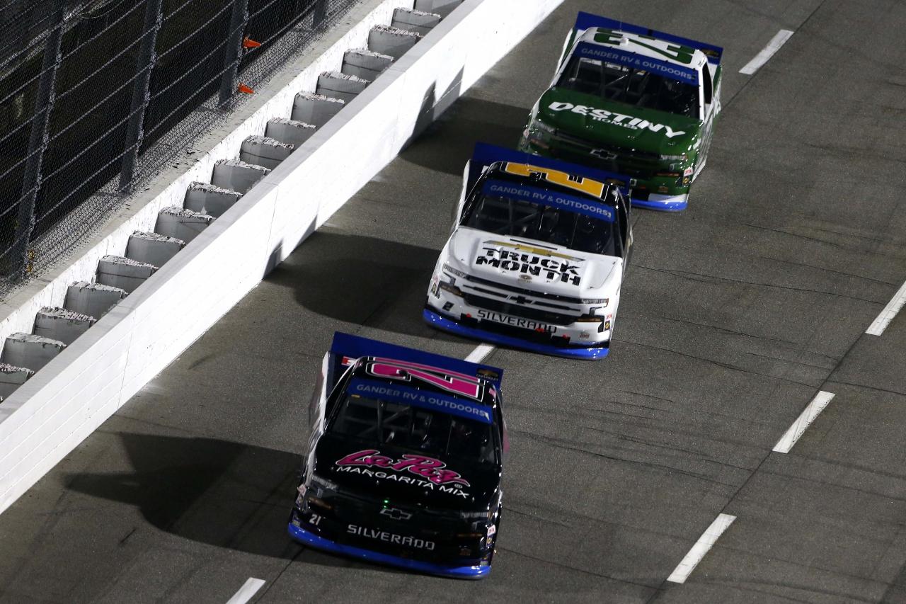 Zane Smith, Sheldon Creed and Brett Moffitt at Martinsville Speedway - NASCAR Truck Series