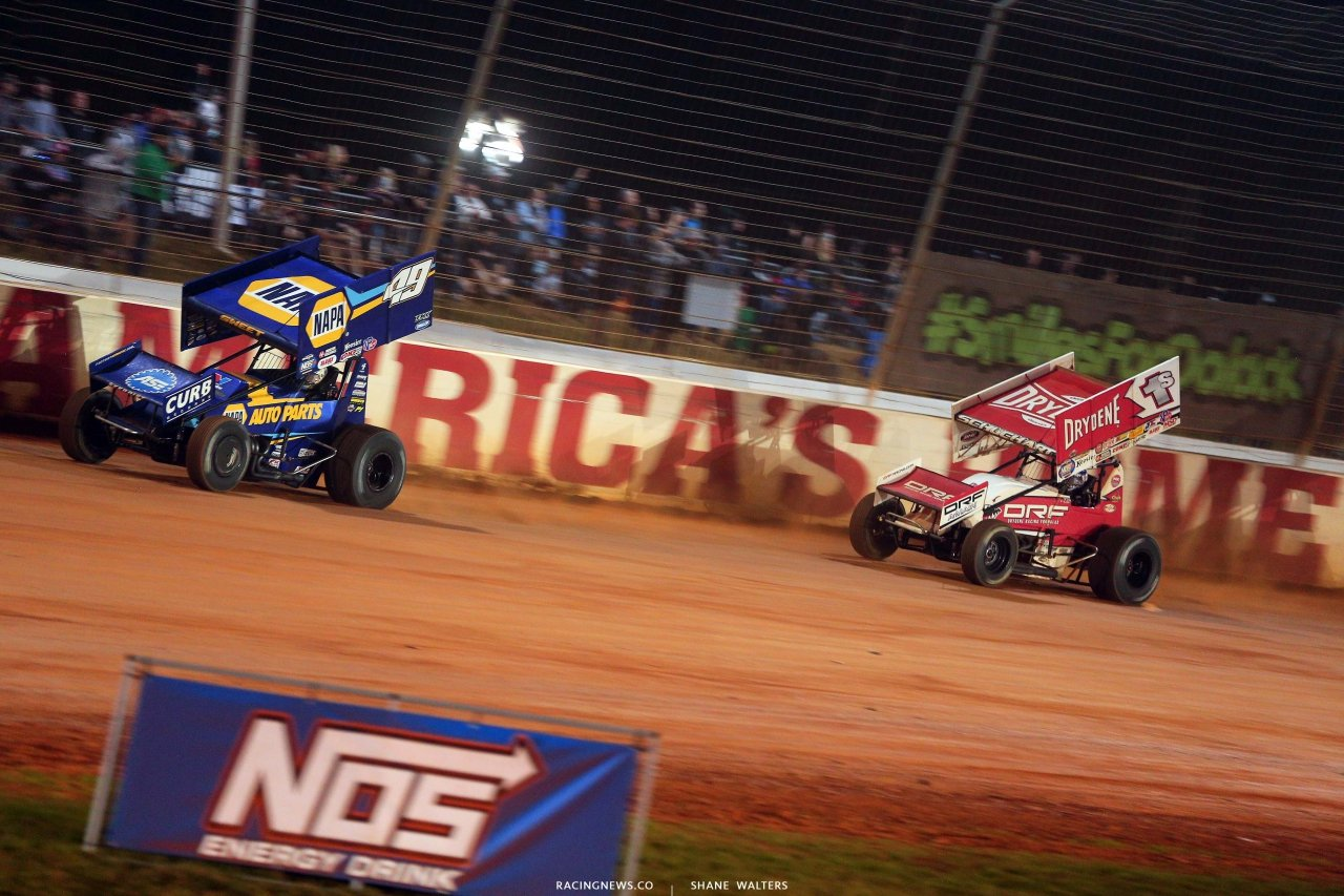 Brad Sweet and Logan Schuchart - The Dirt Track at Charlotte - World of Outlaws Sprint Car Series 6929