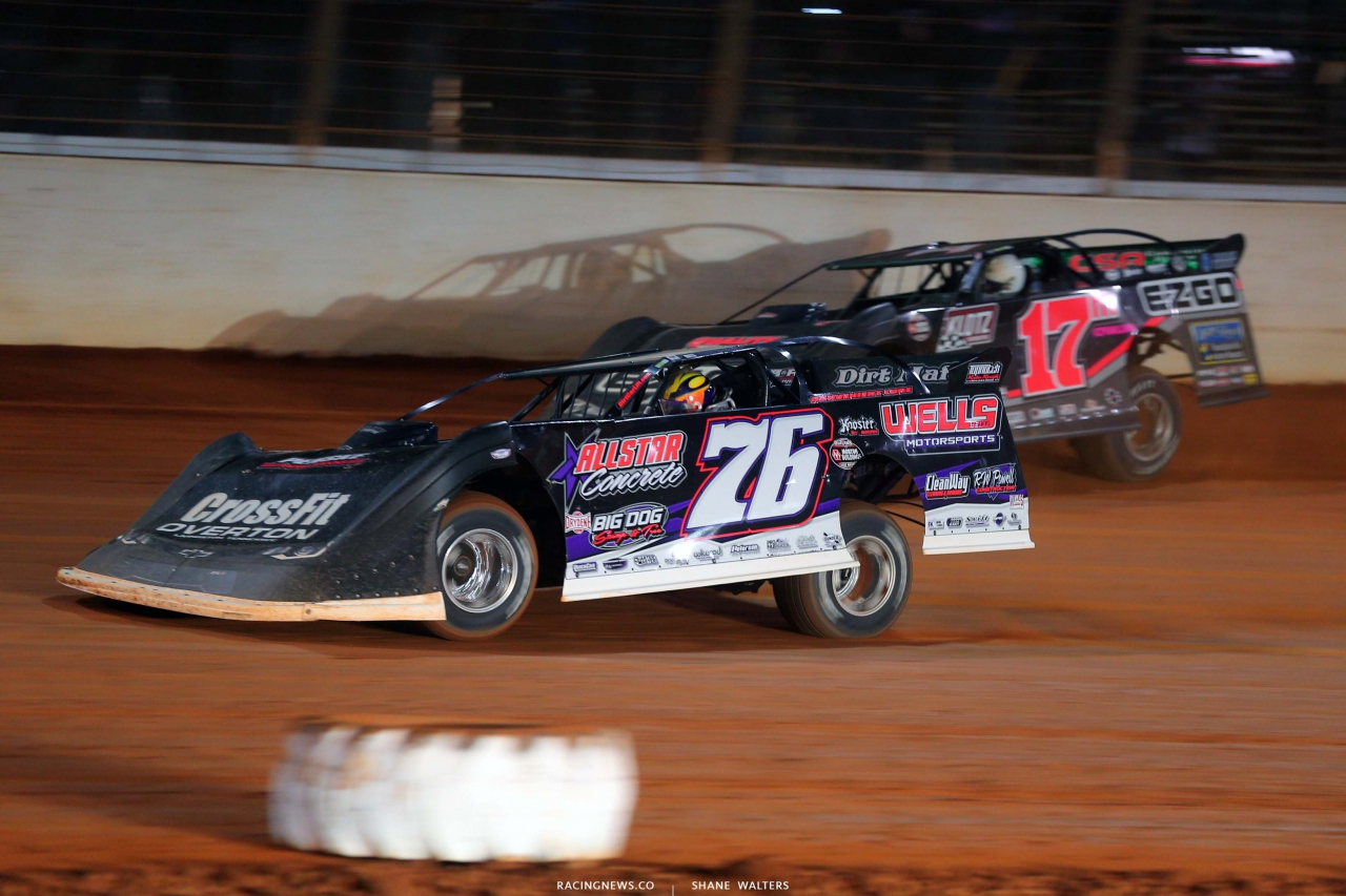 Brandon Overton and Dale McDowell - The Dirt Track at Charlotte - World of Outlaws Late Model Series - Dirt Late Models 6406