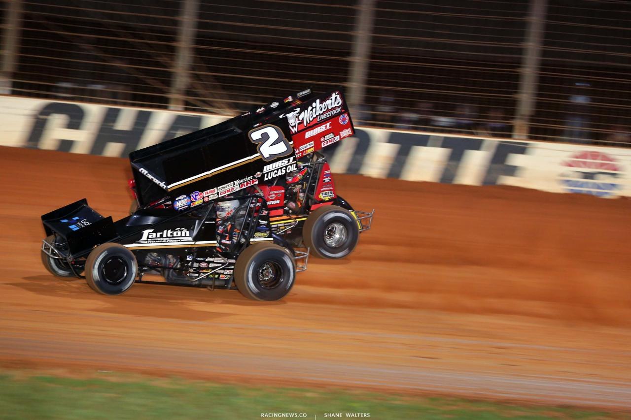 Carson Macedo, David Gravel - Dirt Track at Charlotte - World of Outlaws Sprint Car Series 6721