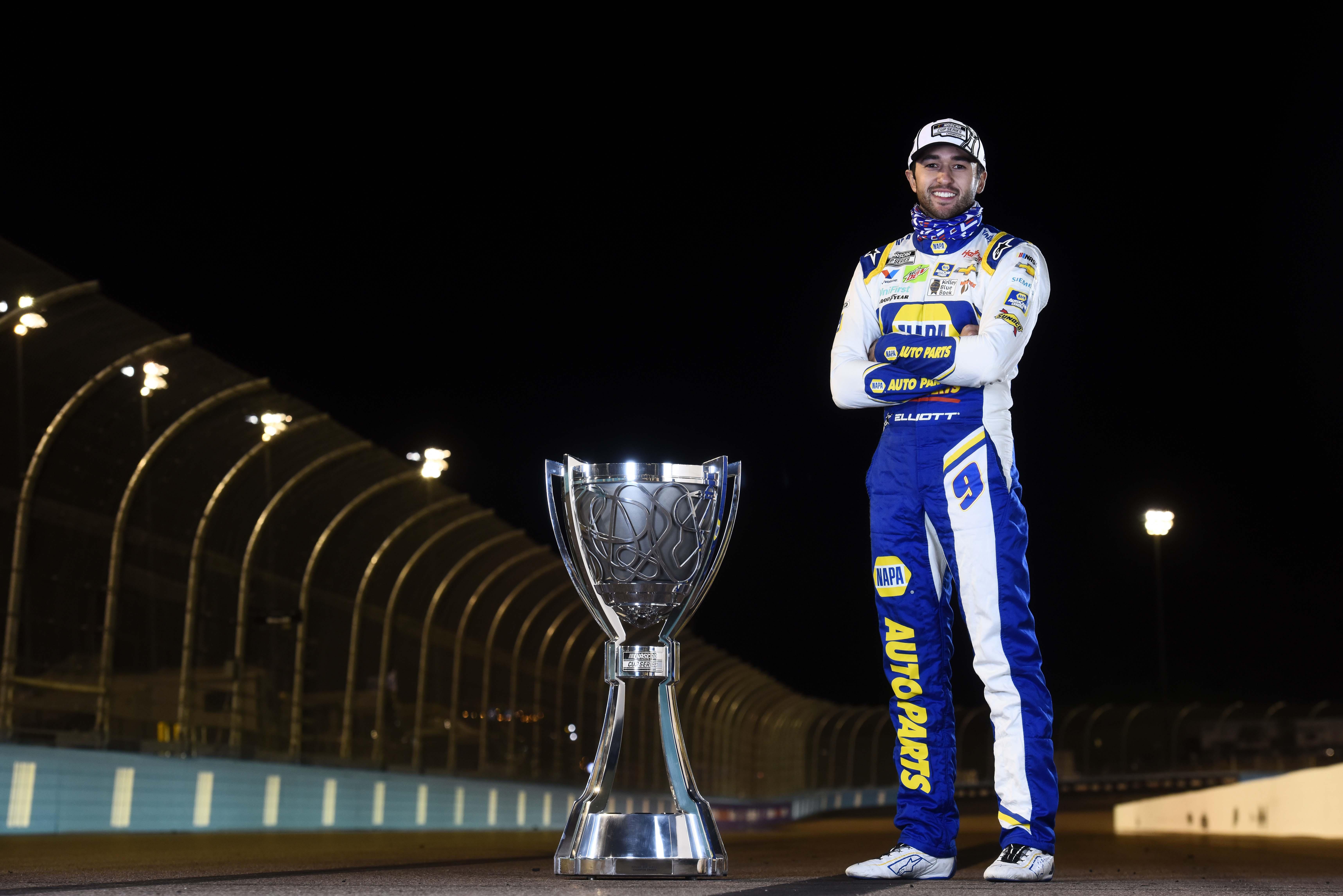 Chase Elliott - 2020 NASCAR Cup Series trophy