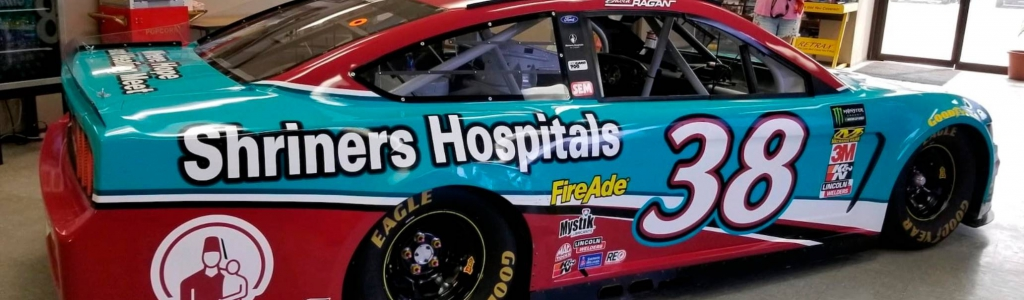 NASCAR race car sold at auction