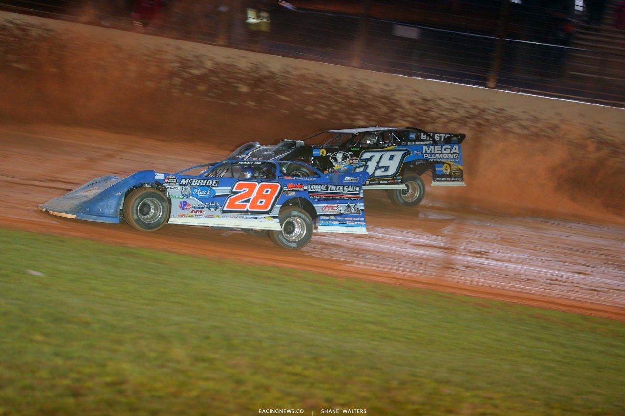 Dennis Erb Jr, Dennis Erb Jr and Tim McCreadie - Last Call- The Dirt Track at Charlotte - World of Outlaws Late Models 6095