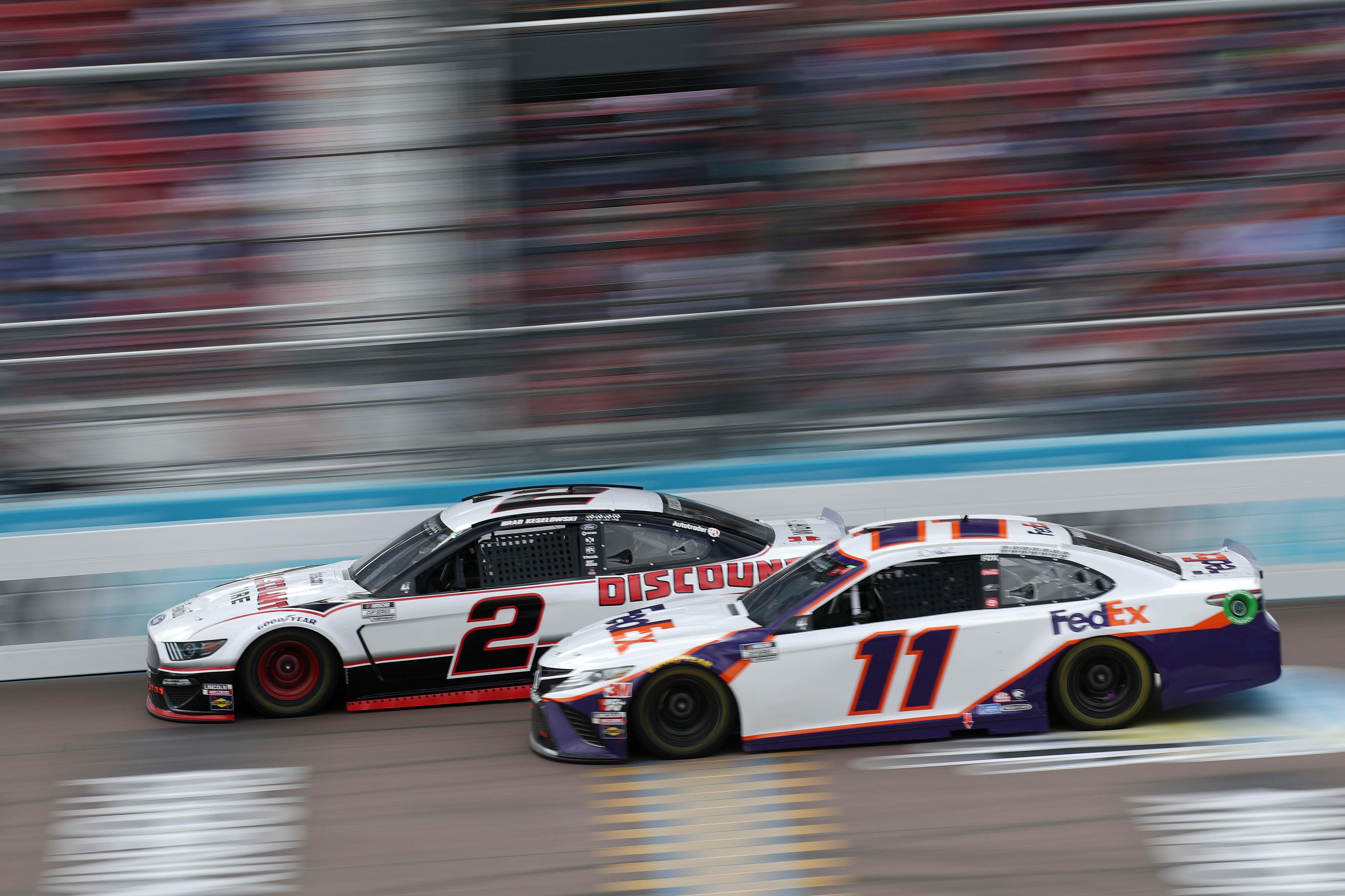 Denny Hamlin and Brad Keselowski - Phoenix Raceway - NASCAR Cup Series