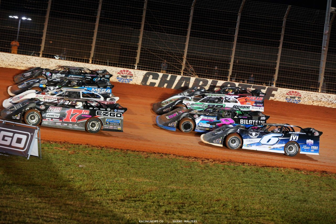 Four wide salute - The Dirt Track at Charlotte - World of Outlaws Late Model Series - Dirt Late Models 6317