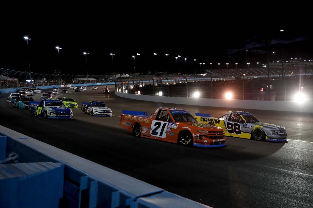 Grant Enfinger, Zane Smith, Brett Moffitt, Sheldon Creed - Phoenix Raceway - NASCAR Truck Series