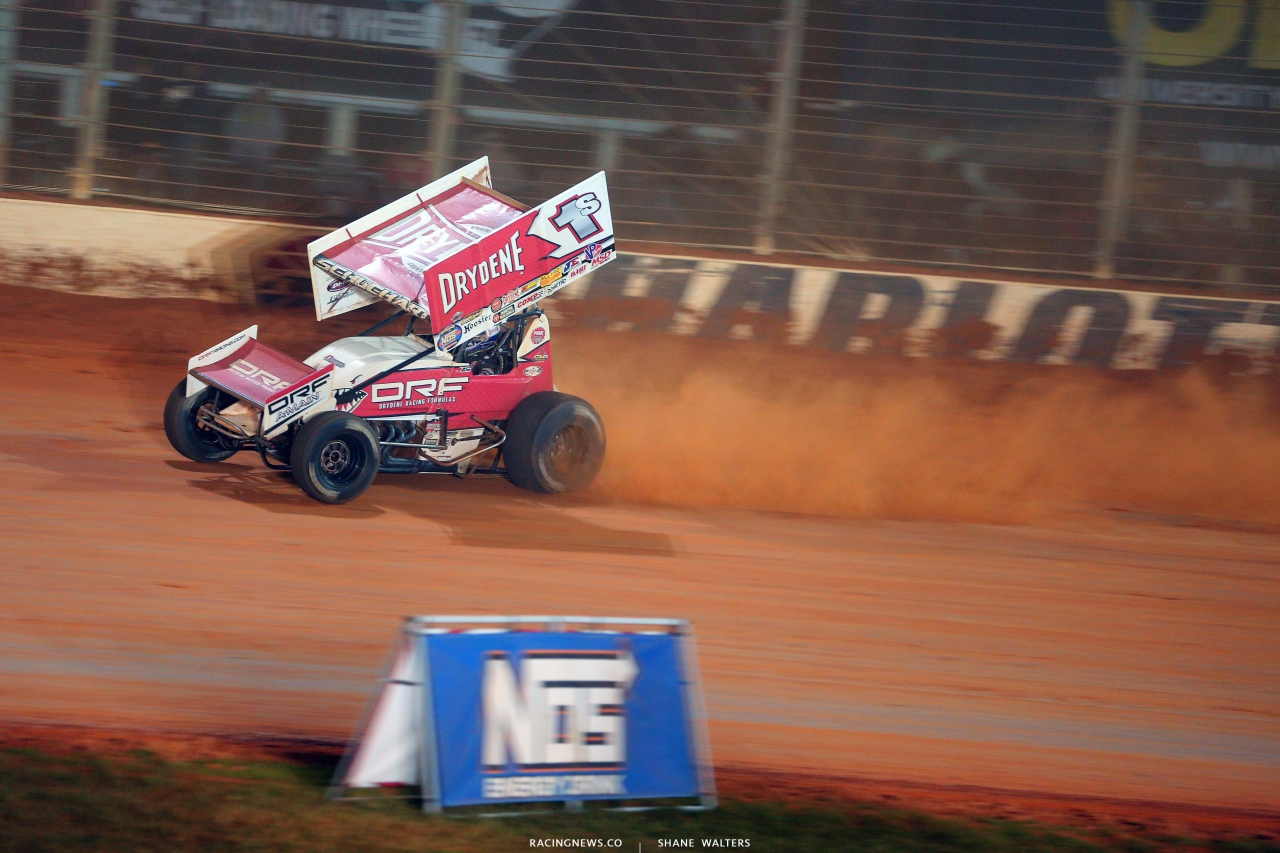 Logan Schuchart on the Dirt Track at Charlotte - World of Outlaws Sprint Car Series 6982