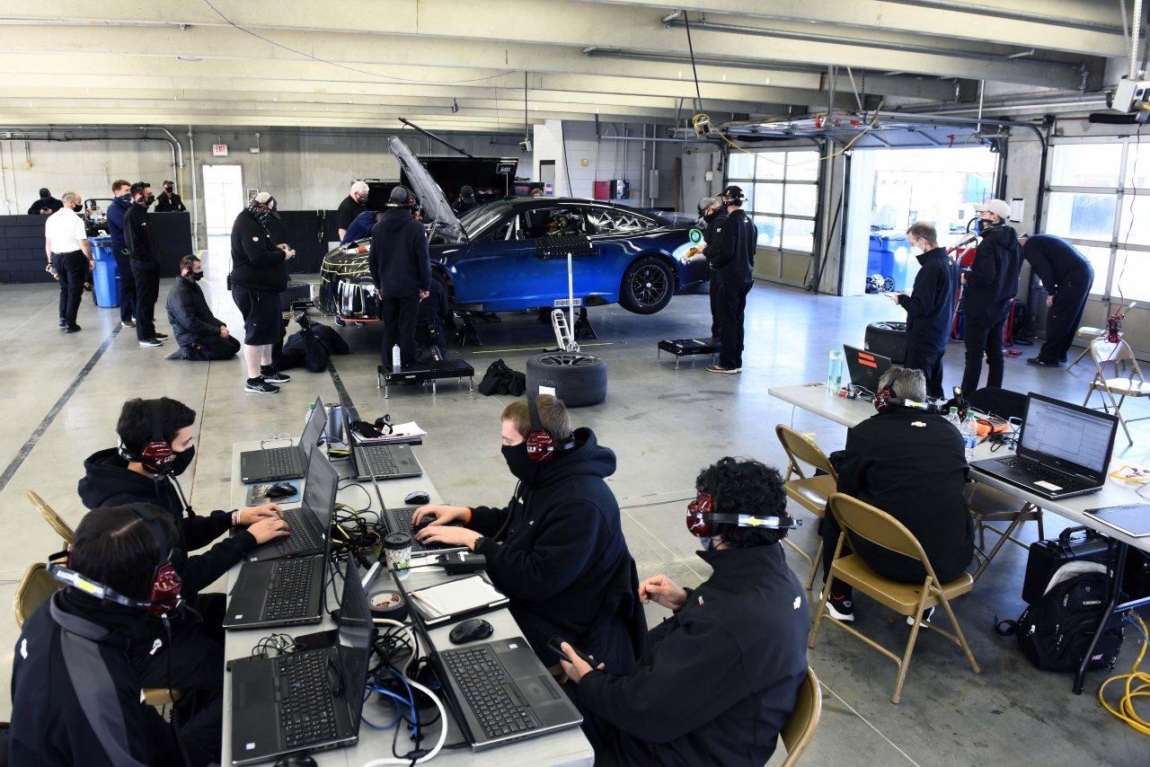 NASCAR Next Gen testing at Charlotte Motor Speedway - Garage photo