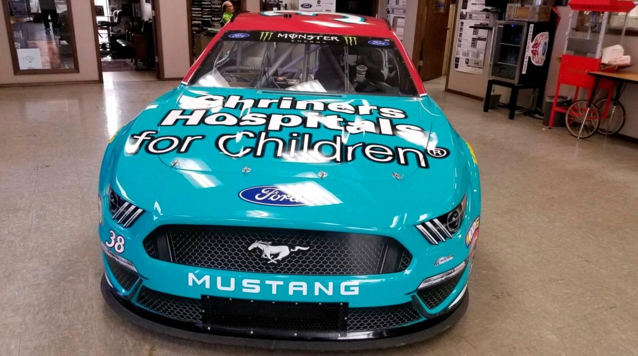NASCAR auction car