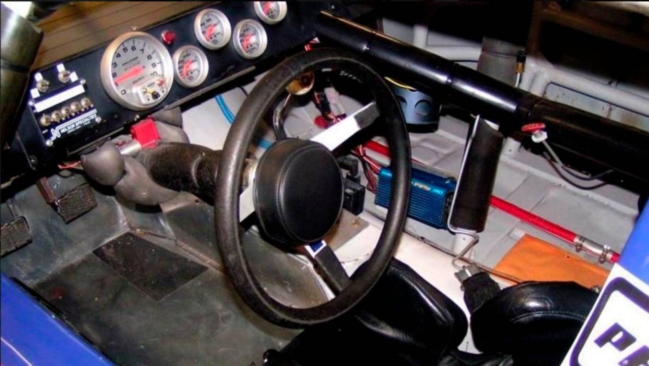 NASCAR race car cockpit - DEI