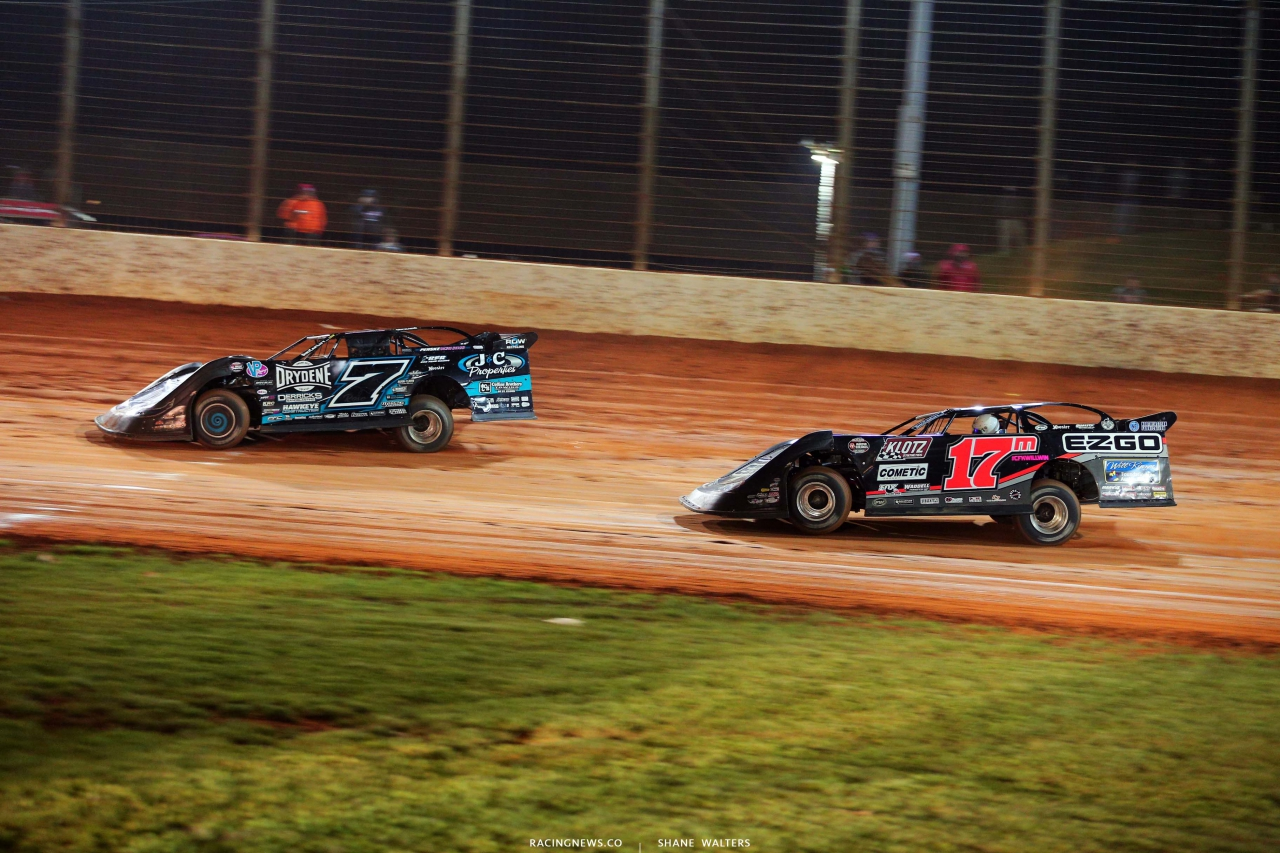 Ricky Weiss and Dale McDowell - The Dirt Track at Charlotte - World of Outlaws Late Model Series - Last Call 6353