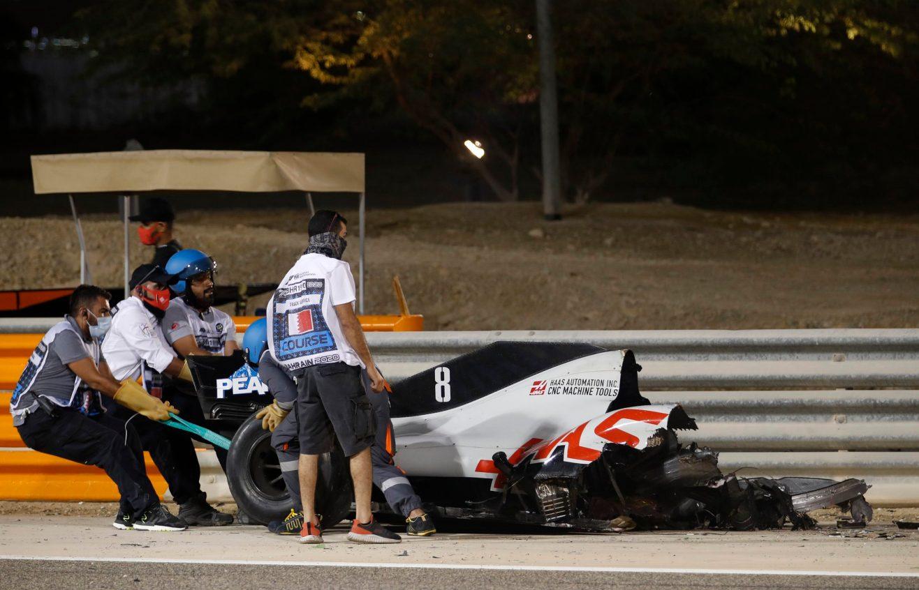 Romain Grosjean crash