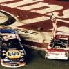 Dale Earnhardt Jr and Michael Waltrip - 2001 Pepsi 400 - Daytona International Speedway