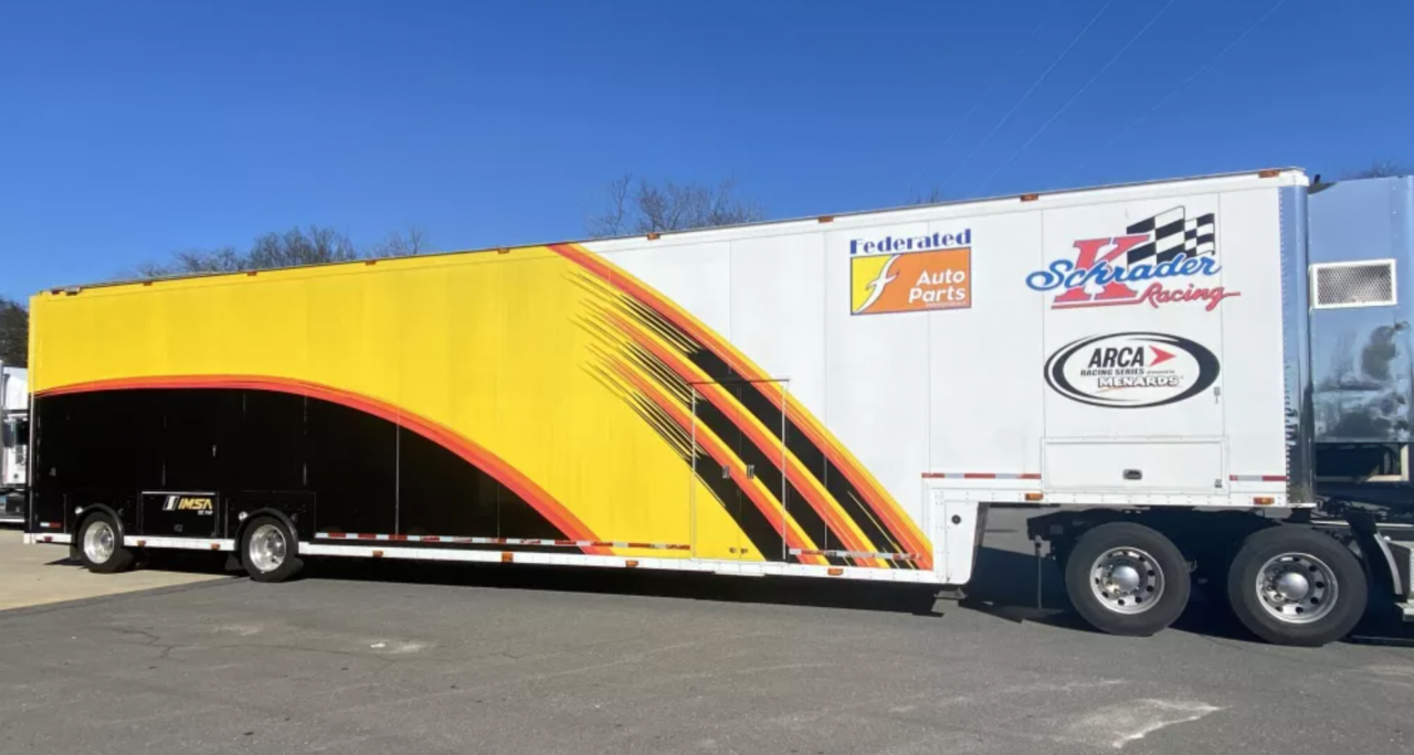 Ken Schrader Racing hauler for sale