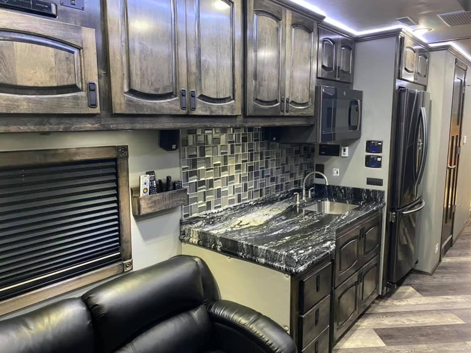 Race hauler kitchen