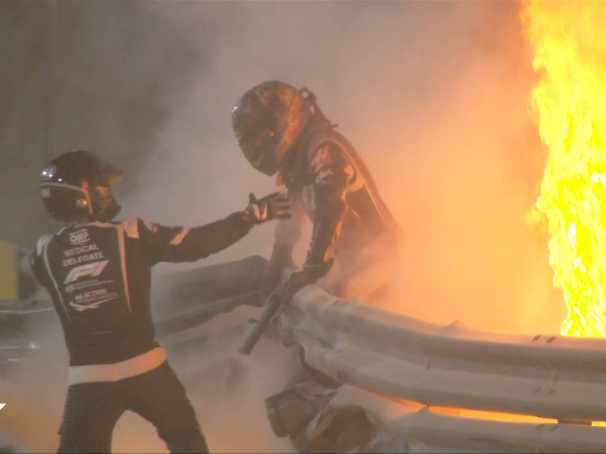 Romain Grosjean - Fire