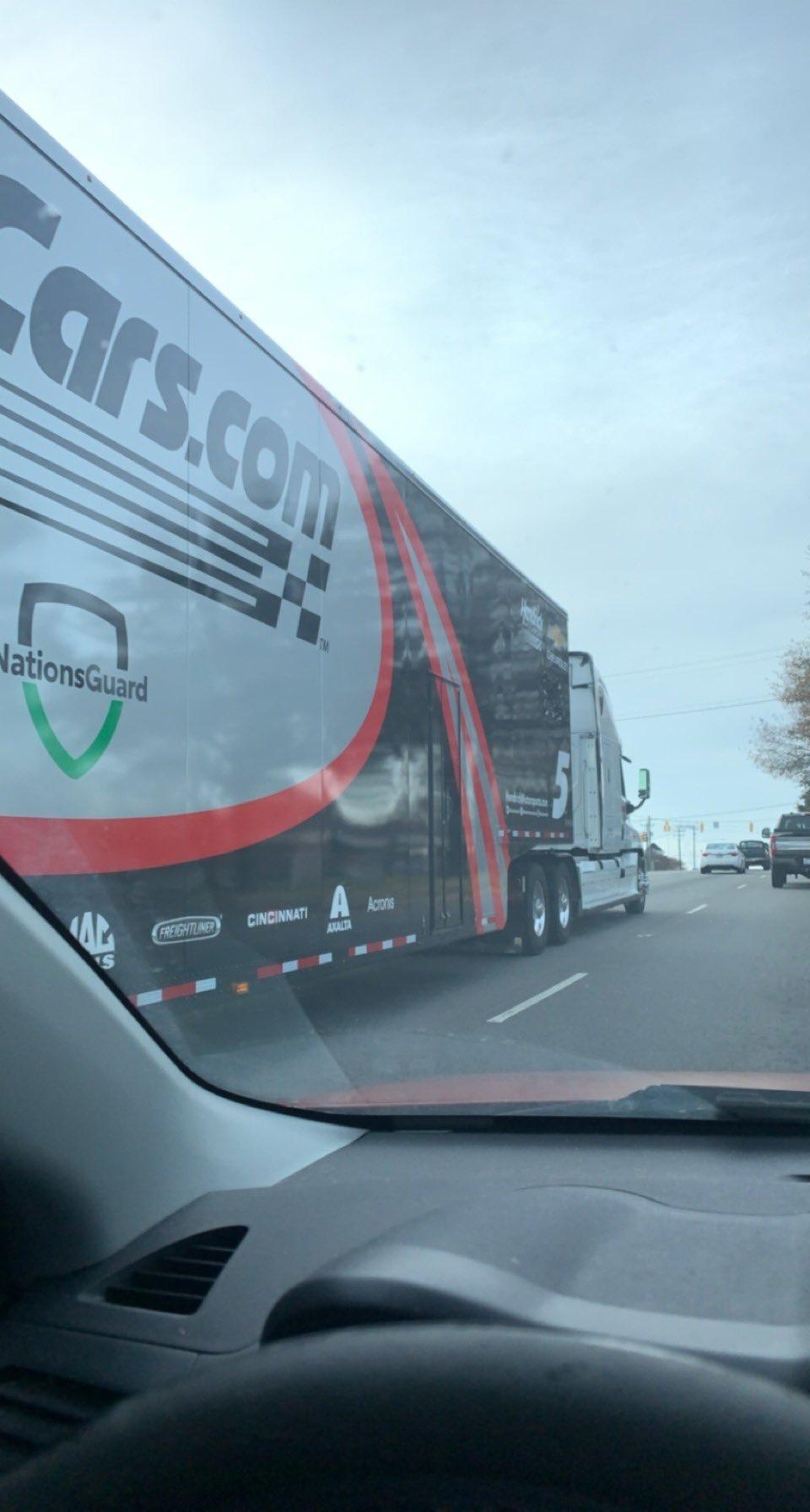 2021 NASCAR hauler for Kyle Larson at Hendrick Motorsports