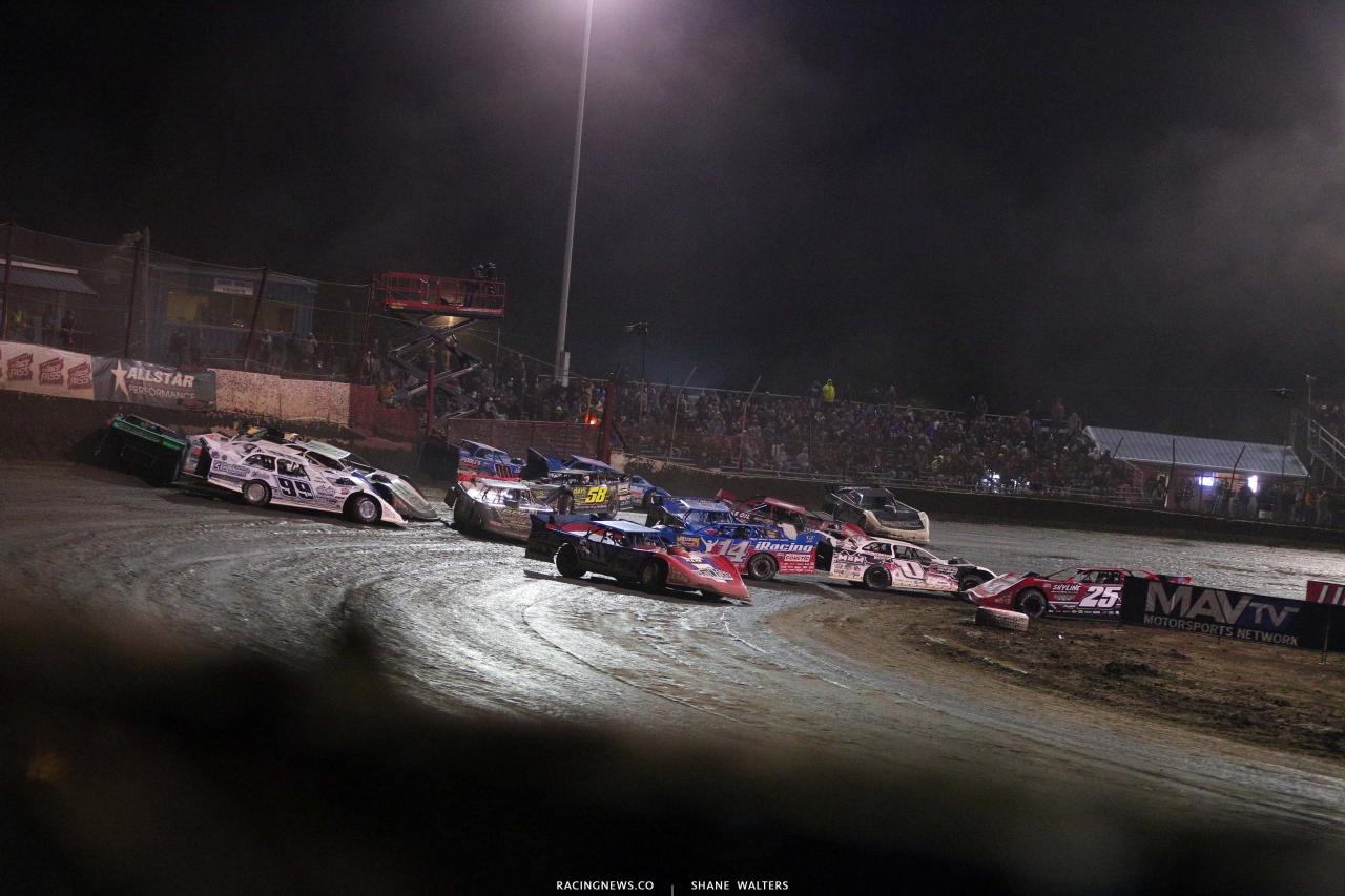 Big crash at East Bay Raceway Park - Lucas Oil Late Model Dirt Series 8089