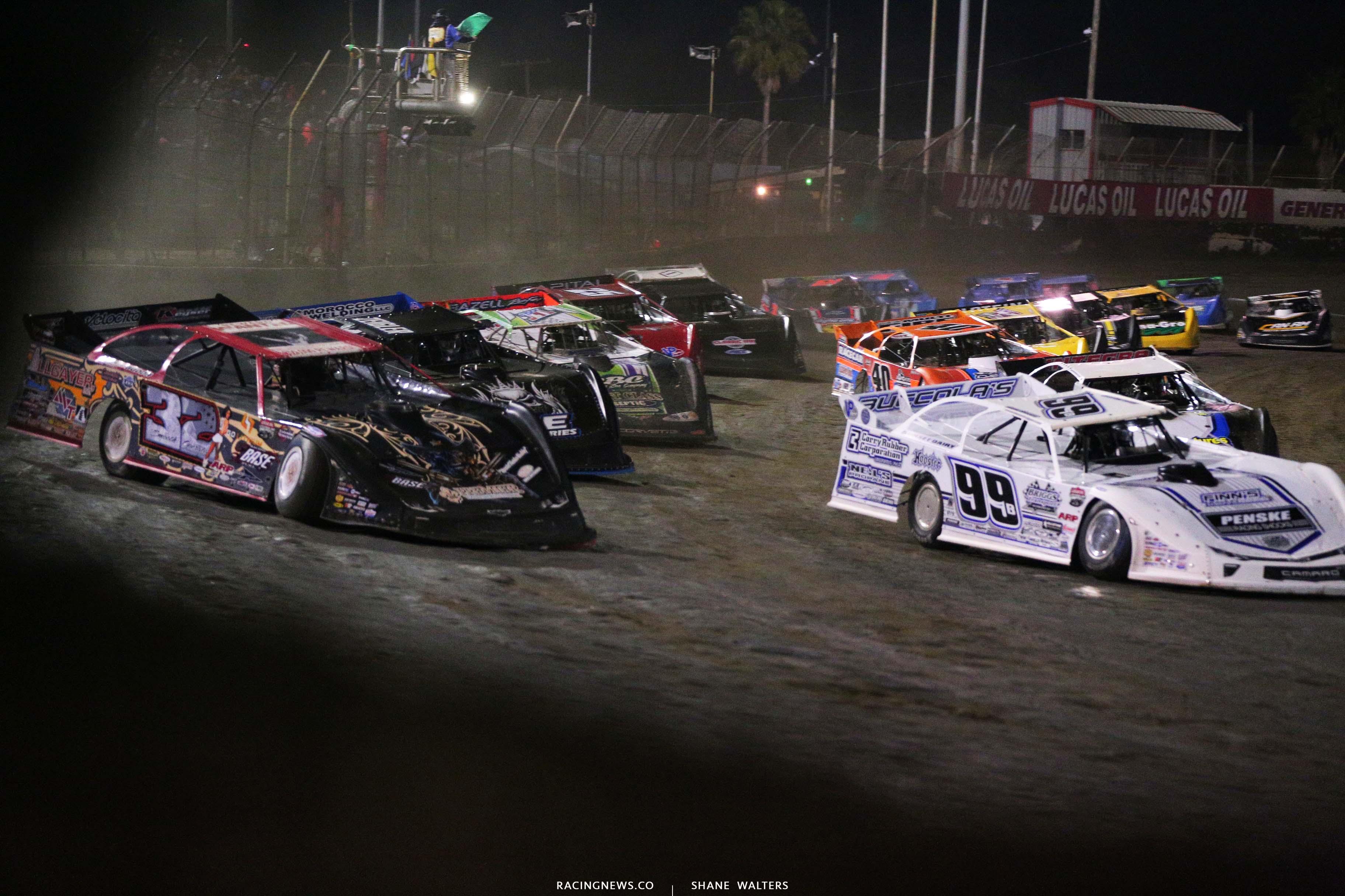Bobby Pierce and Boom Briggs at East Bay Raceway Park - Lucas Oil Late Model Dirt Series 8053