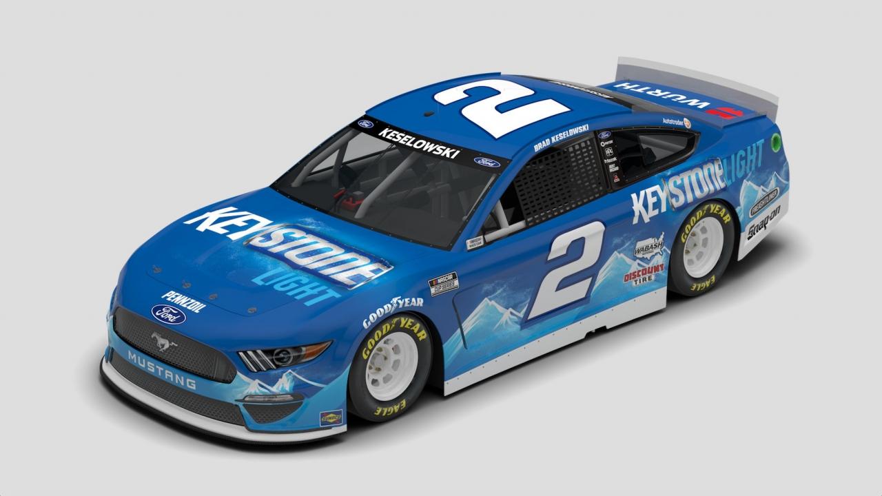 Brad Keselowski Keystone Lights - 2021 NASCAR paint scheme