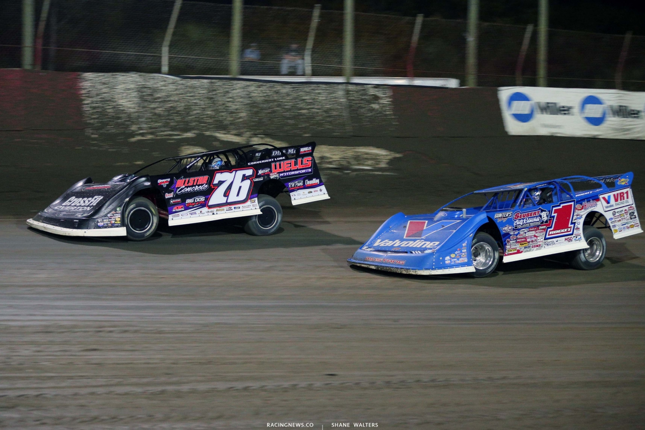 Brandon Overton and Brandon Sheppard at East Bay Raceway Park - Lucas Oil Late Models l7890